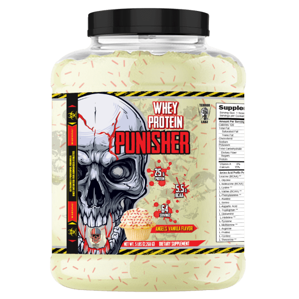 PUNISHER Whey Protein - 100% Pure Whey Protein Powder For Muscle Gain
