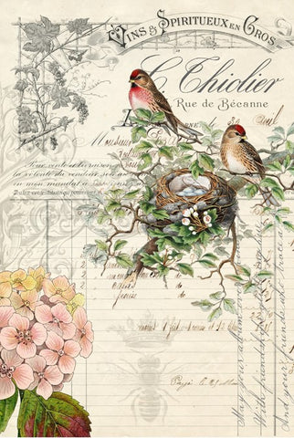 Bird Ephemera Decoupage Paper