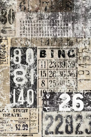 Grunge Numbers Collage Decoupage Paper