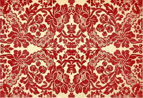 Red Damask Decoupage Paper