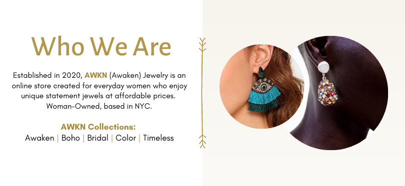 Beautiful Earrings, Necklaces & Bracelets atAWKN Jewelry's  in NYC