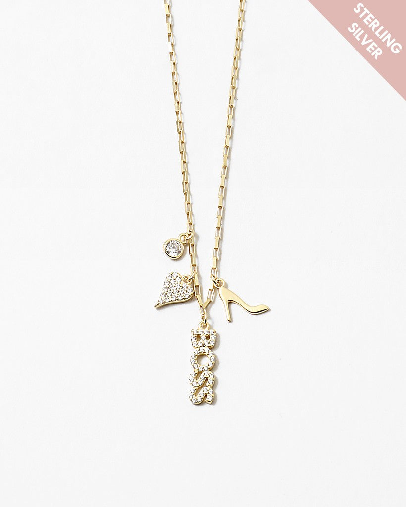 Boss Lady In Heels SS Gold Necklace