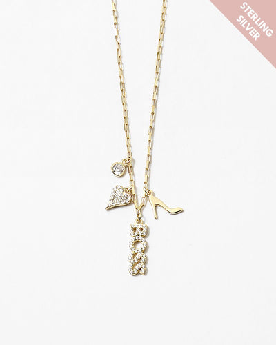 Buy beautiful Boss Lady In Heels SS Gold Necklace - AWKN Jewelry's
