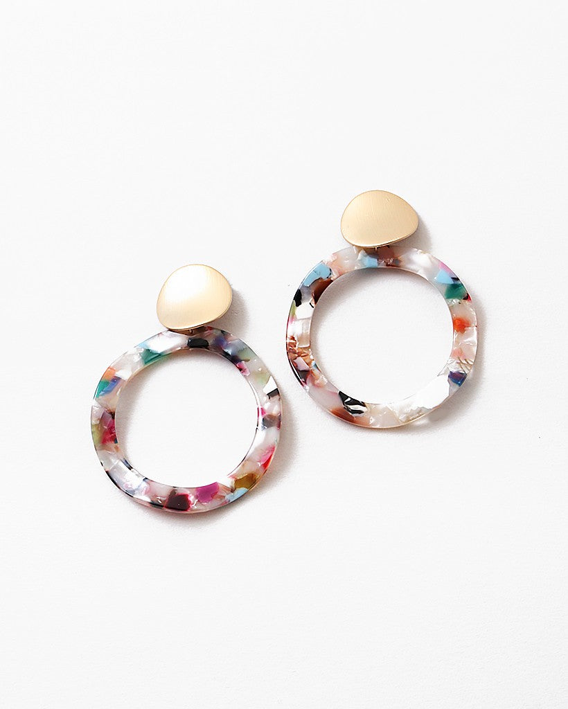 Buy beautiful Multi-Color Circle of Waves Drop Earrings - AWKN Jewelry's