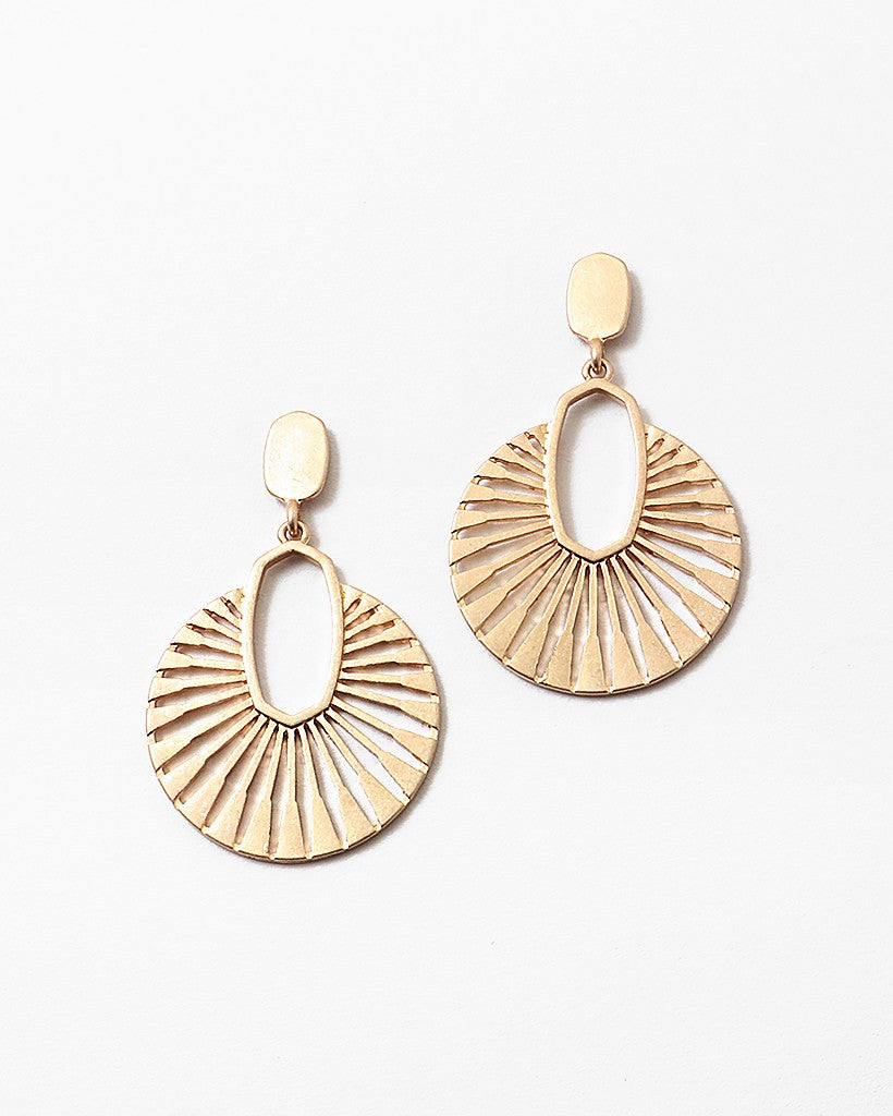 Buy beautiful Fanned Out Gold Earrings - AWKN Jewelry's