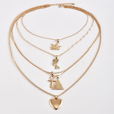 Buy beautiful Multi-Layer Goddess Gold Chains Necklace - AWKN Jewelry's