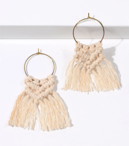 Buy beautiful Braided Tassel Boho Earrings - AWKN Jewelry's