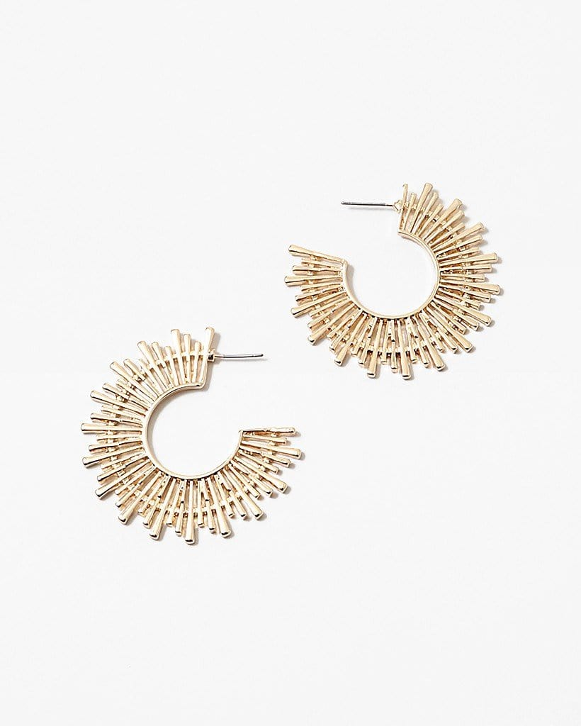 Buy beautiful Golden Sun Rays Earrings - AWKN Jewelry's