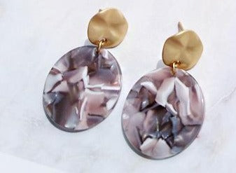 Buy beautiful Marble Tainted Circle Earrings - AWKN Jewelry's