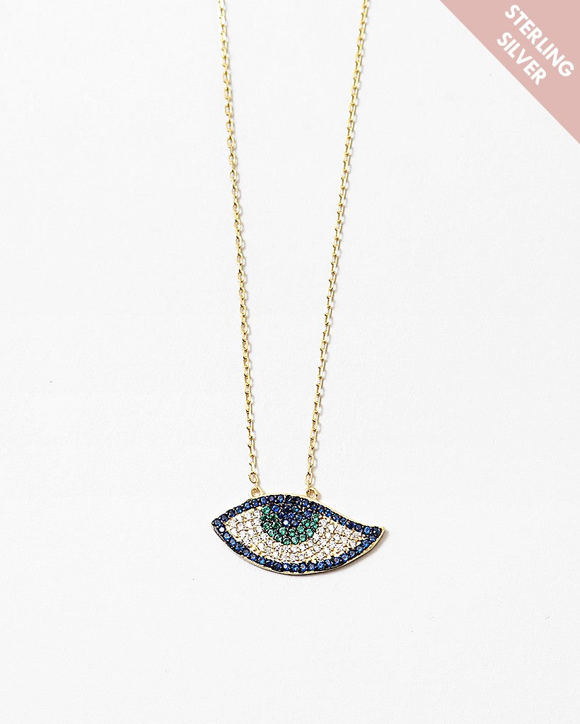 Buy beautiful Awaken Gemstone Sterling Silver Gold Necklace - AWKN Jewelry's