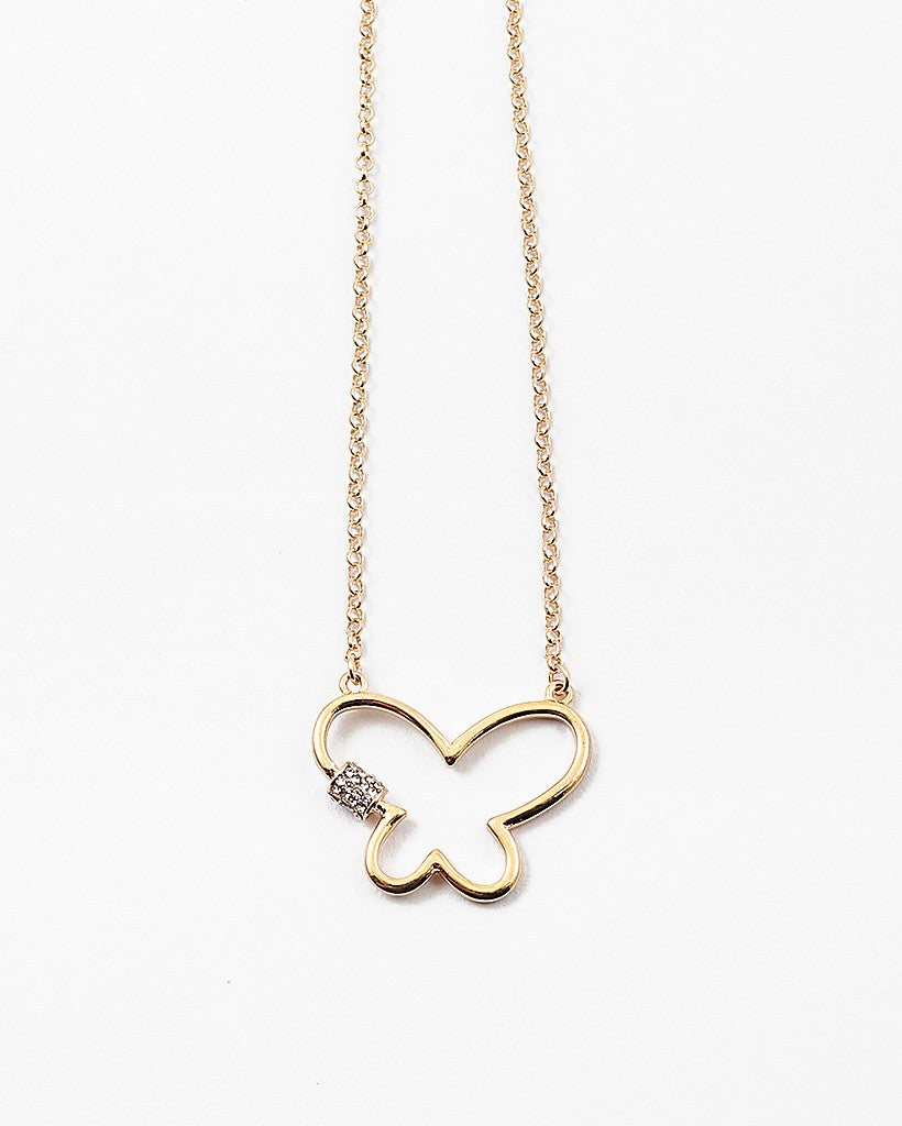 Butterfly Pendant Gold Chain Necklace