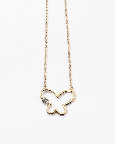 Buy beautiful Butterfly Pendant Gold Chain Necklace - AWKN Jewelry's