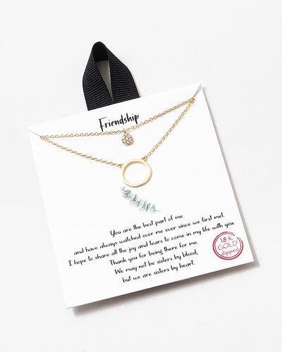 Buy beautiful Everlasting Friendship Double Layer 18k Gold Necklace - AWKN Jewelry's