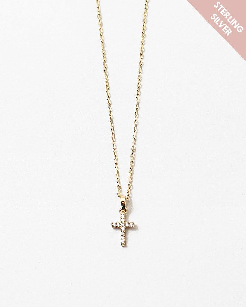 Buy beautiful On The Cross Sterling Silver Pendant Necklace - AWKN Jewelry's