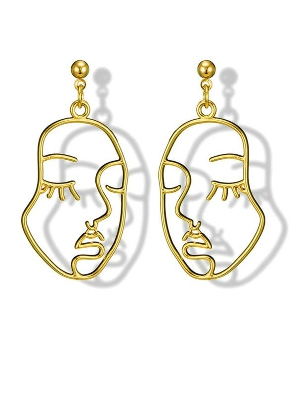 Face Forward Gold Drop Earrings