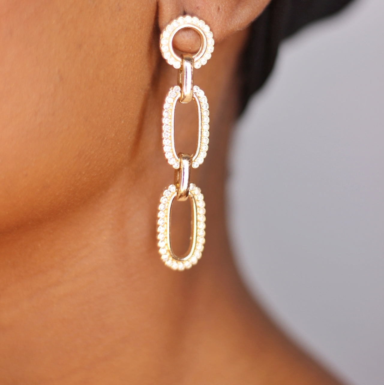 Buy beautiful Keep it Locked Sterling Silver Chain Earrings - AWKN Jewelry's