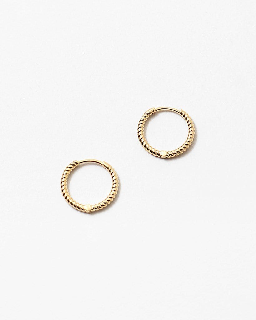 Buy beautiful Gold Mini Dainty Hoops - AWKN Jewelry's