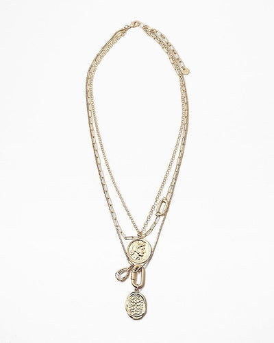 Buy beautiful Multi-Layer Rustic Gold Chains Necklace - AWKN Jewelry's