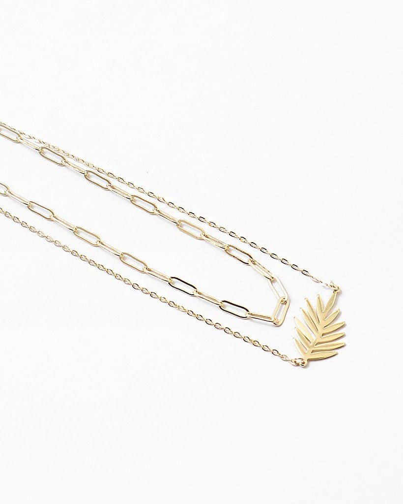Buy beautiful Multi-Layer Leaf Gold Chain Necklace - AWKN Jewelry's