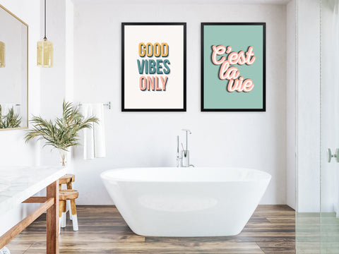 Bold statement quote art for bathrooms