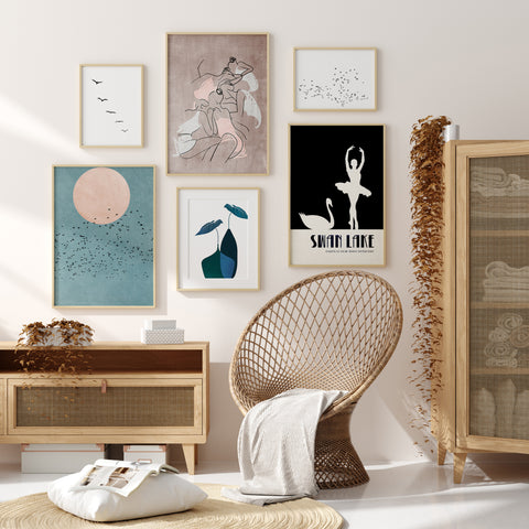 Gallery Wall of Art Prints by Kubistika in various sizes