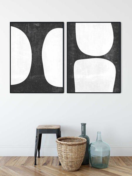a collection of monochrome prints for offices