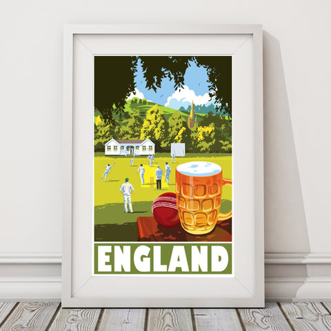 England travel art for men