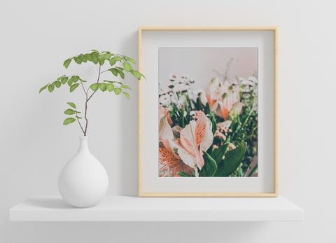 Flowers art print for Mothers Day
