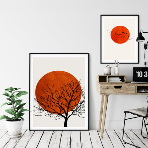 a collection of abstract prints for offices