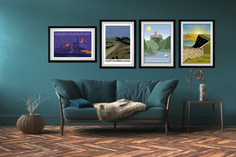 travel art prints of northumberland in various sizes