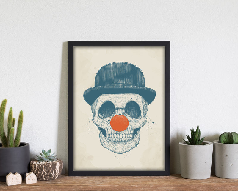 Dead Clown Skull Gothic Art Print by Balaz Solti
