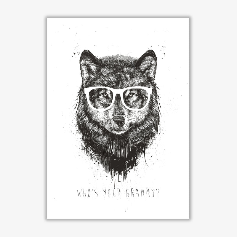 Who's Your Granny? Wolf B&W