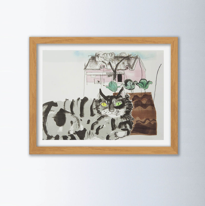 Cat By Chloe Cheese Animal Art Print, Framed Art Print, Animal Wall Art