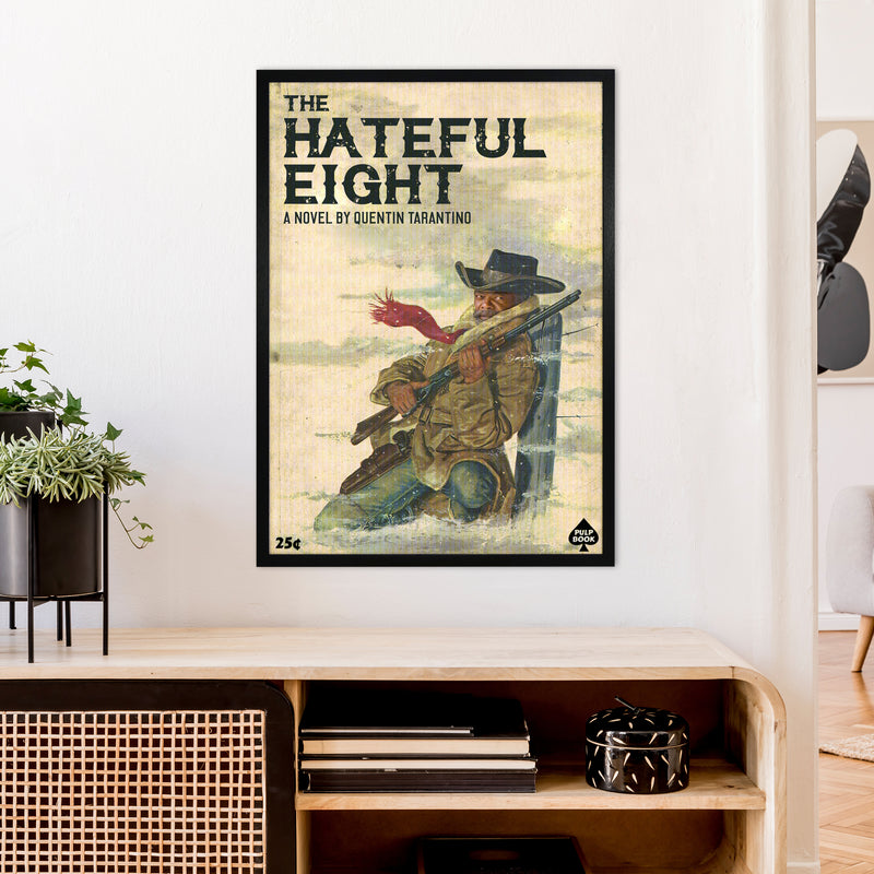 Hateful Eight by David Redon A1 Black Frame
