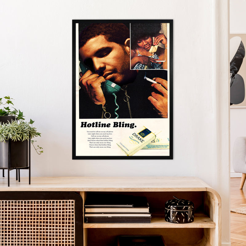 Drizzy by David Redon A1 Black Frame