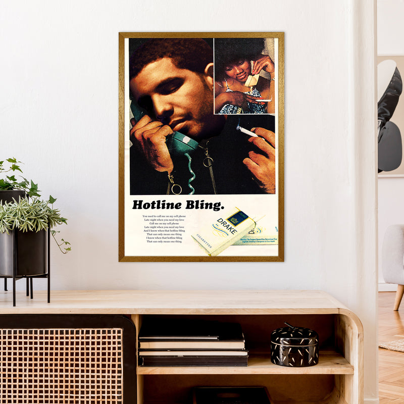 Drizzy by David Redon A1 Oak Frame