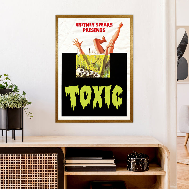 Toxic by David Redon A1 Oak Frame