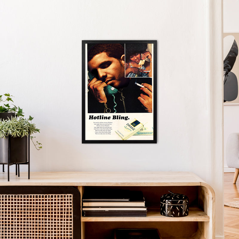 Drizzy by David Redon A2 Black Frame