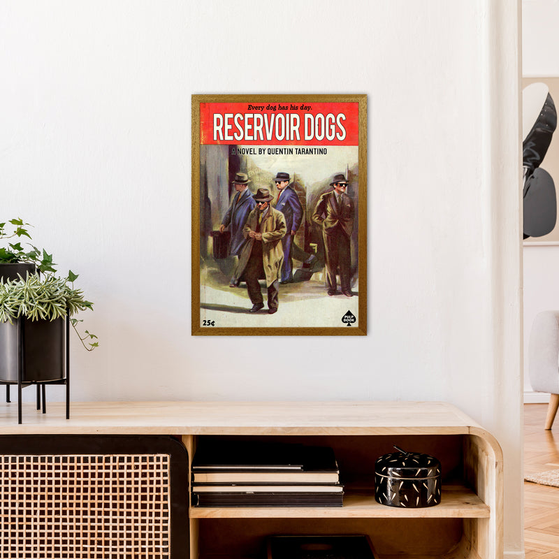 Reservoir Dogs by David Redon A2 Oak Frame