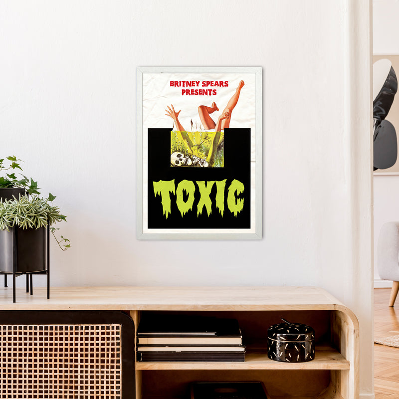 Toxic by David Redon A2 White Frame