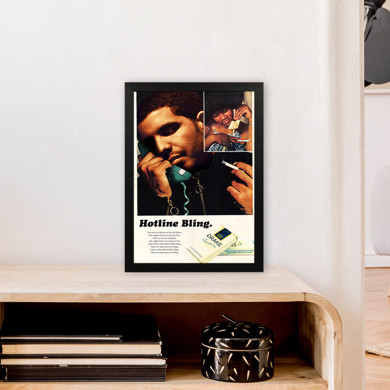 Drizzy by David Redon A3 Black Frame
