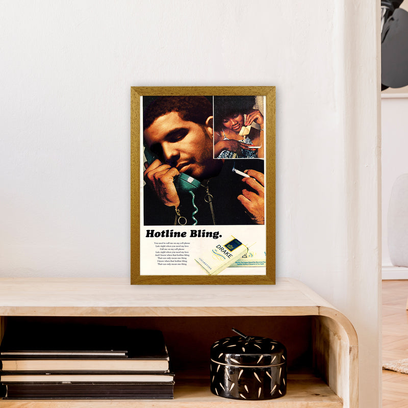 Drizzy by David Redon A3 Oak Frame