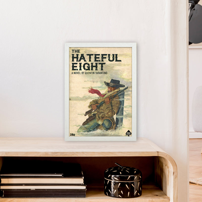 Hateful Eight by David Redon A3 White Frame