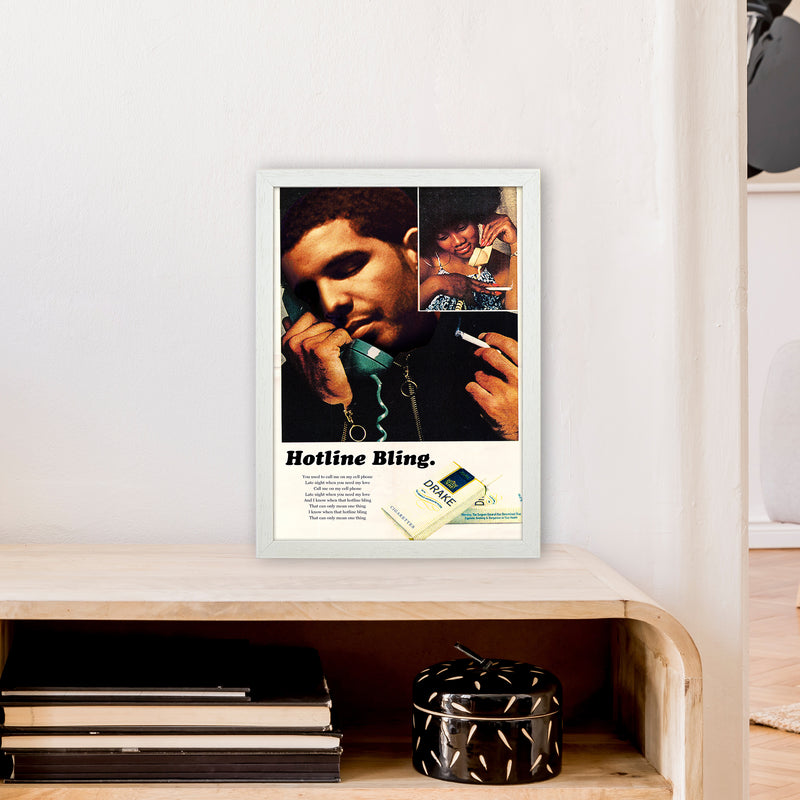 Drizzy by David Redon A3 White Frame