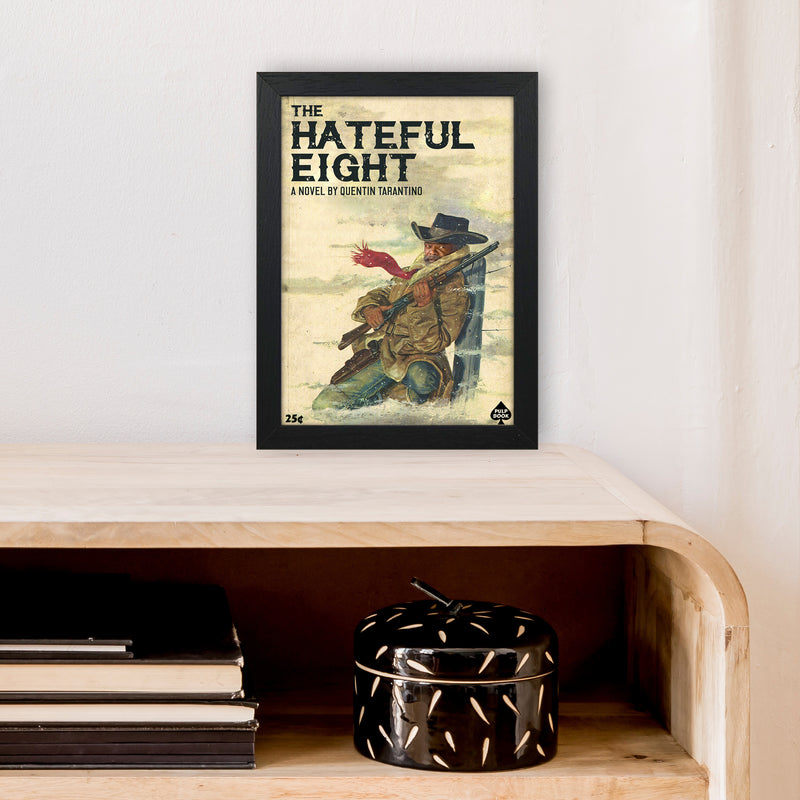 Hateful Eight by David Redon A4 Black Frame