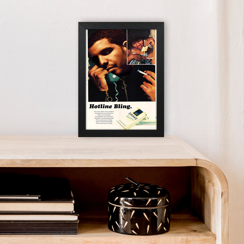 Drizzy by David Redon A4 Black Frame