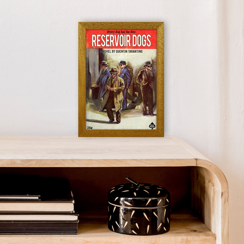 Reservoir Dogs by David Redon A4 Oak Frame