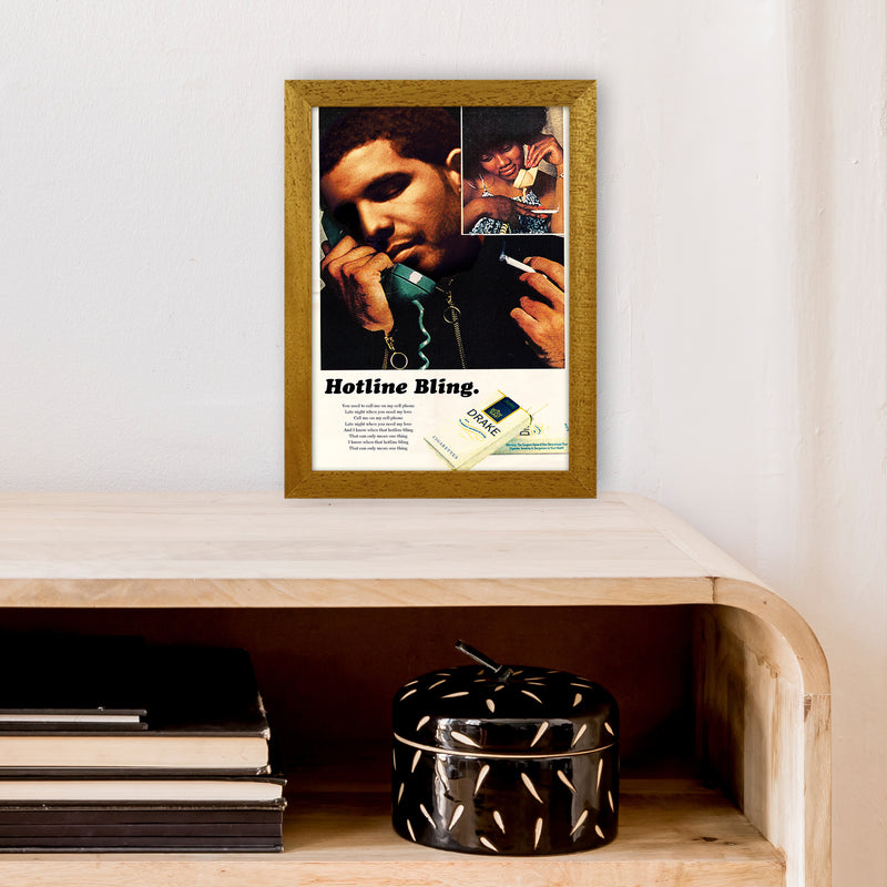 Drizzy by David Redon A4 Oak Frame