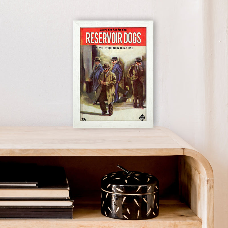 Reservoir Dogs by David Redon A4 White Frame