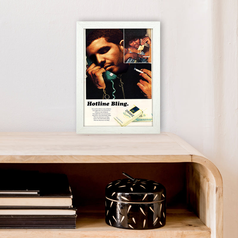 Drizzy by David Redon A4 White Frame